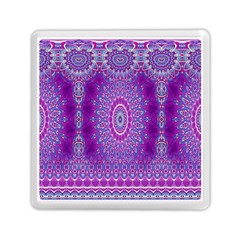 India Ornaments Mandala Pillar Blue Violet Memory Card Reader (Square)
