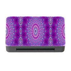 India Ornaments Mandala Pillar Blue Violet Memory Card Reader with CF