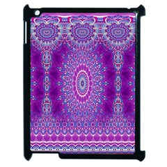 India Ornaments Mandala Pillar Blue Violet Apple Ipad 2 Case (black) by EDDArt