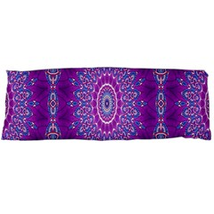 India Ornaments Mandala Pillar Blue Violet Body Pillow Case Dakimakura (Two Sides)