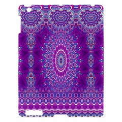 India Ornaments Mandala Pillar Blue Violet Apple Ipad 3/4 Hardshell Case by EDDArt