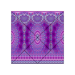 India Ornaments Mandala Pillar Blue Violet Acrylic Tangram Puzzle (4  x 4 )