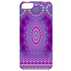 India Ornaments Mandala Pillar Blue Violet Apple iPhone 5 Classic Hardshell Case