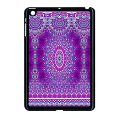 India Ornaments Mandala Pillar Blue Violet Apple iPad Mini Case (Black)