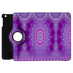 India Ornaments Mandala Pillar Blue Violet Apple iPad Mini Flip 360 Case