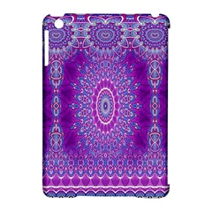 India Ornaments Mandala Pillar Blue Violet Apple iPad Mini Hardshell Case (Compatible with Smart Cover)