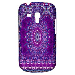 India Ornaments Mandala Pillar Blue Violet Samsung Galaxy S3 MINI I8190 Hardshell Case