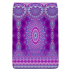 India Ornaments Mandala Pillar Blue Violet Flap Covers (L)