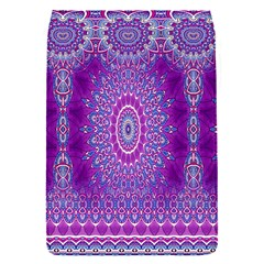 India Ornaments Mandala Pillar Blue Violet Flap Covers (S)