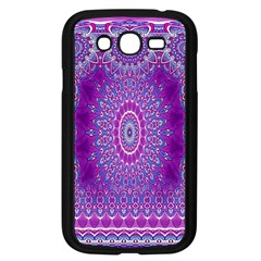 India Ornaments Mandala Pillar Blue Violet Samsung Galaxy Grand DUOS I9082 Case (Black)