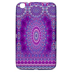 India Ornaments Mandala Pillar Blue Violet Samsung Galaxy Tab 3 (8 ) T3100 Hardshell Case