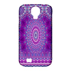 India Ornaments Mandala Pillar Blue Violet Samsung Galaxy S4 Classic Hardshell Case (PC+Silicone)