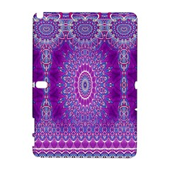 India Ornaments Mandala Pillar Blue Violet Samsung Galaxy Note 10.1 (P600) Hardshell Case