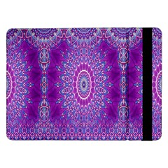 India Ornaments Mandala Pillar Blue Violet Samsung Galaxy Tab Pro 12.2  Flip Case