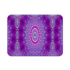 India Ornaments Mandala Pillar Blue Violet Double Sided Flano Blanket (Mini)