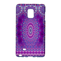 India Ornaments Mandala Pillar Blue Violet Galaxy Note Edge