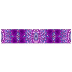 India Ornaments Mandala Pillar Blue Violet Flano Scarf (Small)