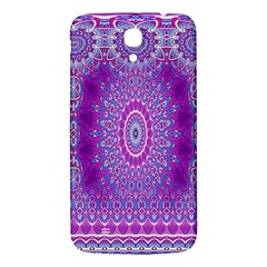 India Ornaments Mandala Pillar Blue Violet Samsung Galaxy Mega I9200 Hardshell Back Case