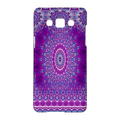 India Ornaments Mandala Pillar Blue Violet Samsung Galaxy A5 Hardshell Case