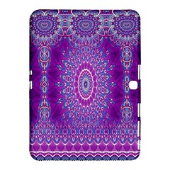 India Ornaments Mandala Pillar Blue Violet Samsung Galaxy Tab 4 (10.1 ) Hardshell Case