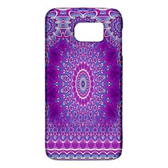 India Ornaments Mandala Pillar Blue Violet Galaxy S6