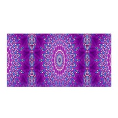 India Ornaments Mandala Pillar Blue Violet Satin Wrap