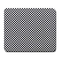 Sports Racing Chess Squares Black White Large Mousepads by EDDArt