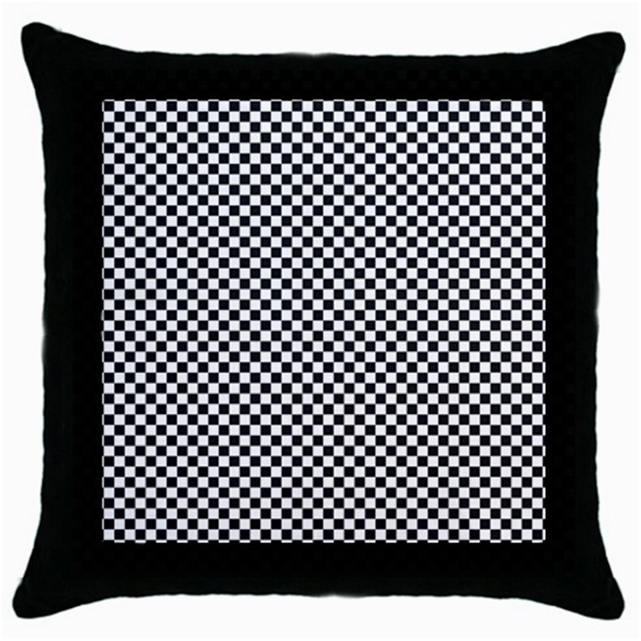 Sports Racing Chess Squares Black White Throw Pillow Case (Black)