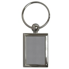 Sports Racing Chess Squares Black White Key Chains (rectangle)  by EDDArt