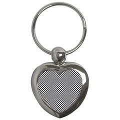 Sports Racing Chess Squares Black White Key Chains (heart)  by EDDArt