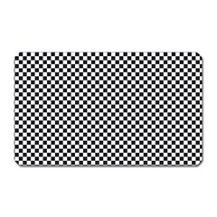 Sports Racing Chess Squares Black White Magnet (rectangular) by EDDArt