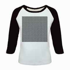 Sports Racing Chess Squares Black White Kids Baseball Jerseys by EDDArt