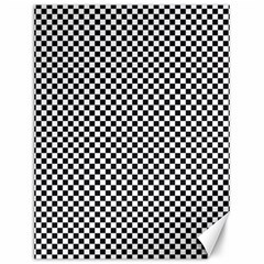 Sports Racing Chess Squares Black White Canvas 12  X 16   by EDDArt
