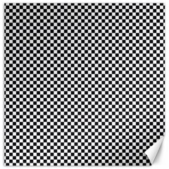 Sports Racing Chess Squares Black White Canvas 16  X 16   by EDDArt