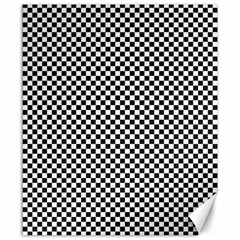 Sports Racing Chess Squares Black White Canvas 20  X 24   by EDDArt