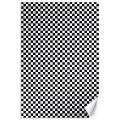 Sports Racing Chess Squares Black White Canvas 24  X 36  by EDDArt