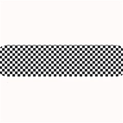 Sports Racing Chess Squares Black White Large Bar Mats by EDDArt