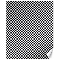 Sports Racing Chess Squares Black White Canvas 11  X 14   by EDDArt