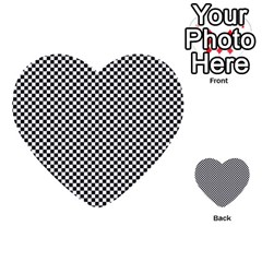 Sports Racing Chess Squares Black White Multi-purpose Cards (heart)  by EDDArt