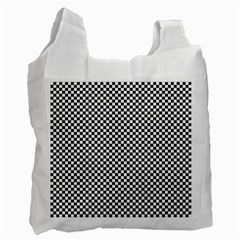Sports Racing Chess Squares Black White Recycle Bag (one Side) by EDDArt