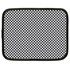 Sports Racing Chess Squares Black White Netbook Case (xl)  by EDDArt