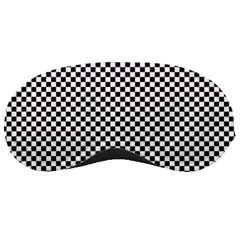 Sports Racing Chess Squares Black White Sleeping Masks by EDDArt