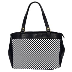 Sports Racing Chess Squares Black White Office Handbags (2 Sides)  by EDDArt