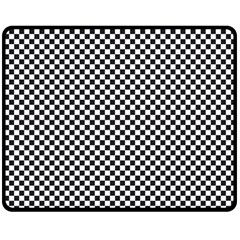Sports Racing Chess Squares Black White Fleece Blanket (medium)  by EDDArt