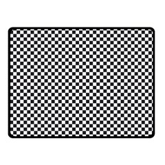 Sports Racing Chess Squares Black White Fleece Blanket (small) by EDDArt