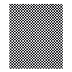 Sports Racing Chess Squares Black White Shower Curtain 60  X 72  (medium)  by EDDArt