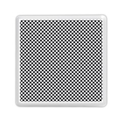 Sports Racing Chess Squares Black White Memory Card Reader (square)  by EDDArt