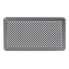 Sports Racing Chess Squares Black White Memory Card Reader (mini) by EDDArt