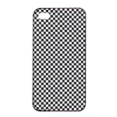 Sports Racing Chess Squares Black White Apple Iphone 4/4s Seamless Case (black) by EDDArt