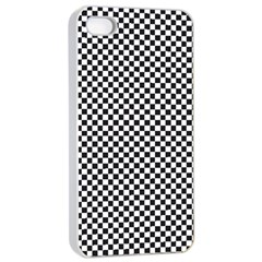 Sports Racing Chess Squares Black White Apple Iphone 4/4s Seamless Case (white) by EDDArt